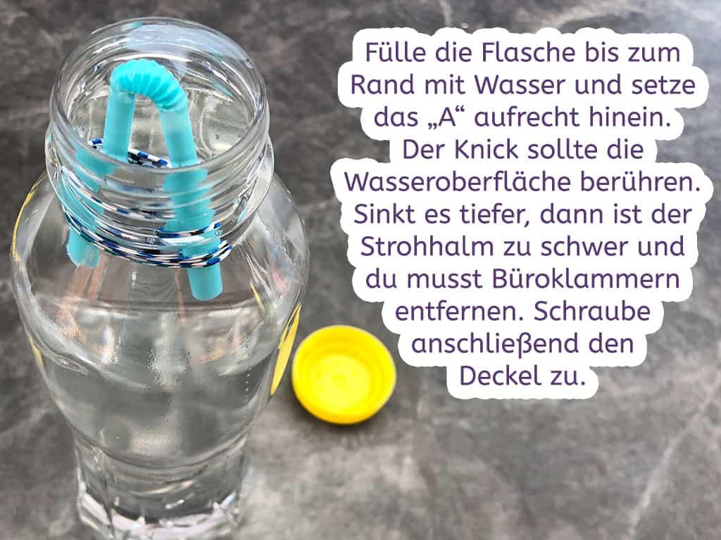 Flaschentaucher Schritt 3