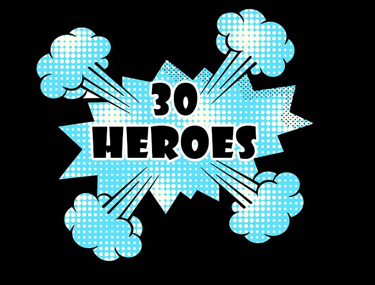 """Logo """"30 Heroes"""""""